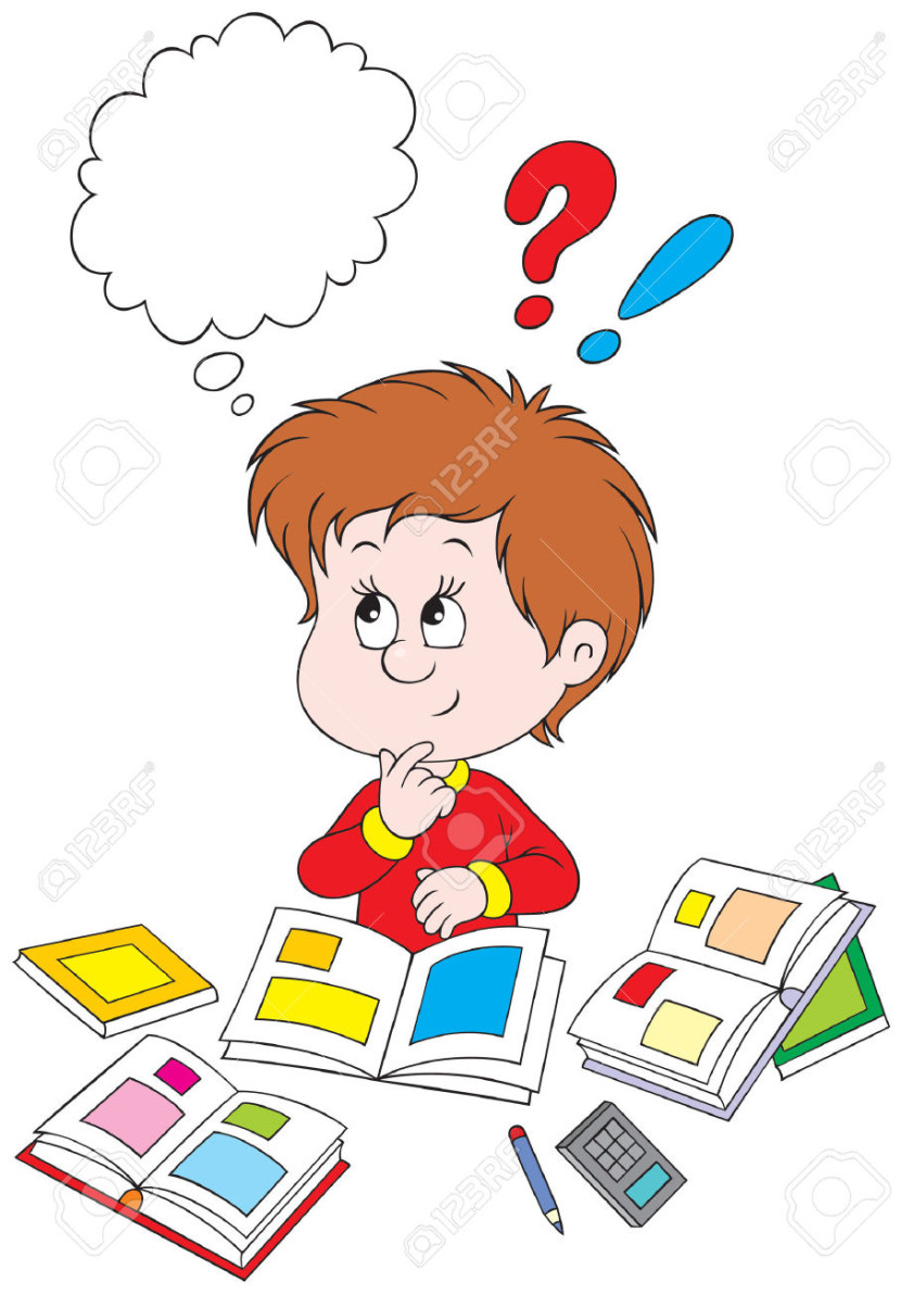 Schoolboy At Homework Royalty Free Cliparts Vectors And Stock