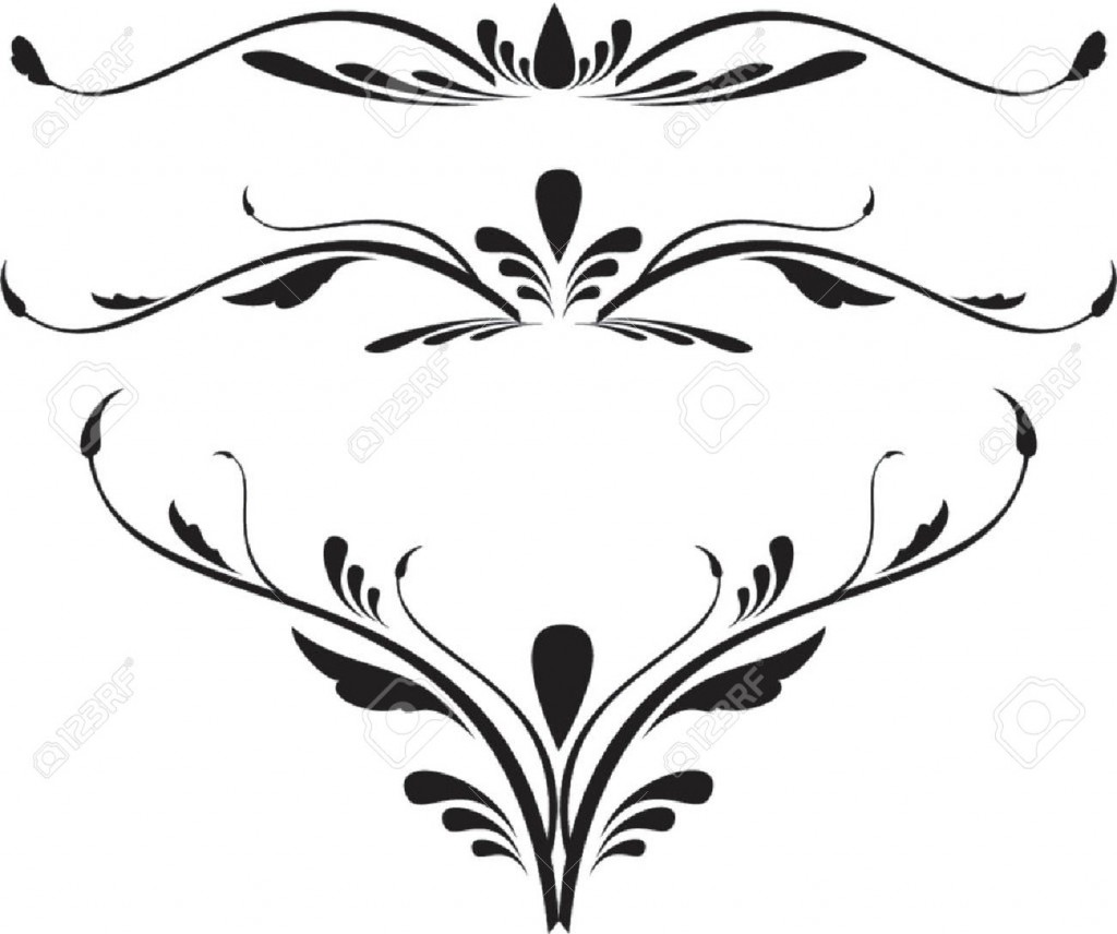 Scroll Design Cliparts Stock Vector And Royalty Free Scroll