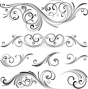 Free Clipart Scroll Designs on wood carving patterns for free