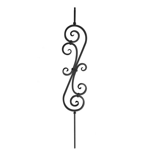 Scroll Design Powder Coated Balusters Indital Usa