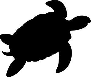 Sea Turtle Silhouette Free Clipart Images