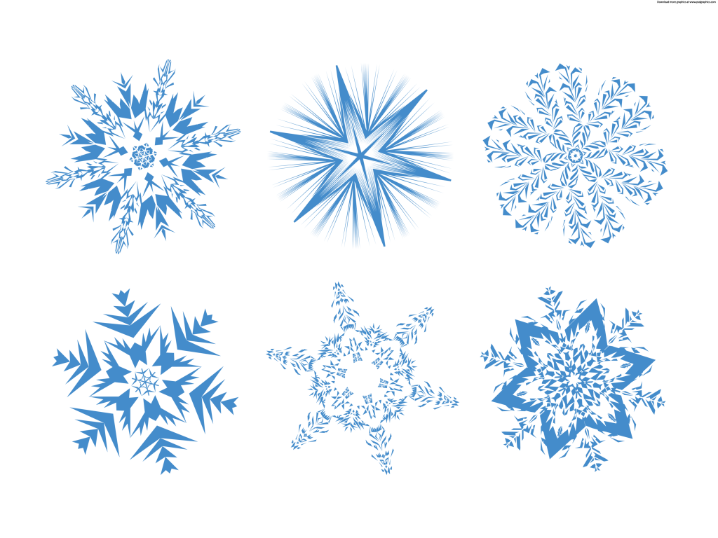 Set Of Snowflakes Psdgraphics