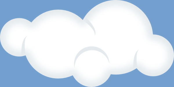 Set Of Soft Clouds Clip Art Free Vector 4vector