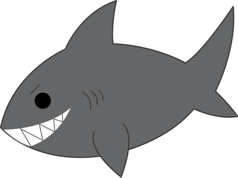 Shark Clip Art Black And White Free Clipart Images
