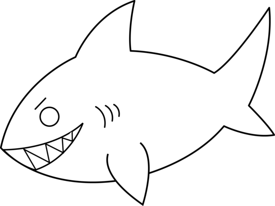 Shark Outline Clipart Free Clip Art Images
