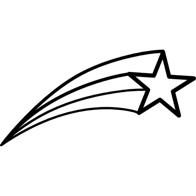 Best Shooting Star Outline #19959 - Clipartion.com