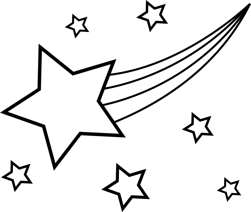 Shooting Star Outline Clip Art Gallery