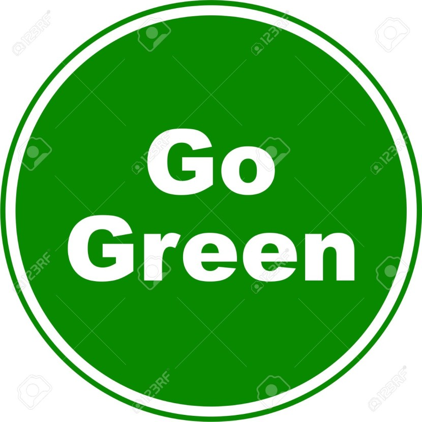 Sign Designed To Resemble A Green Go Sign But With The Words