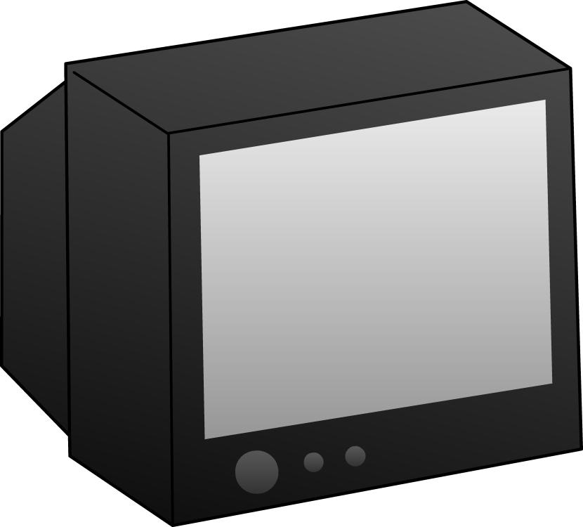 Simple Black Television Clip Art Free Clip Art