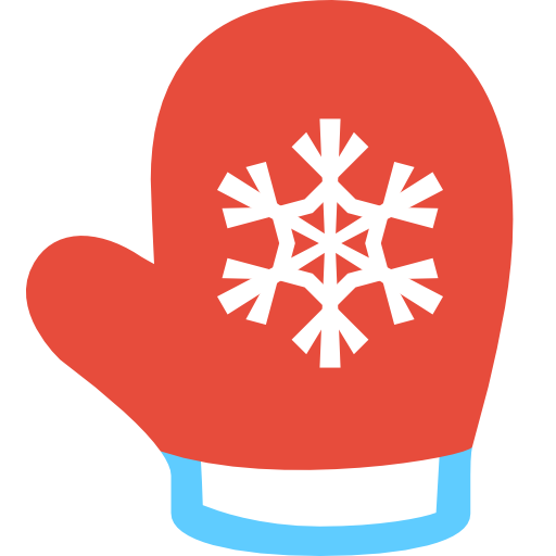 Simple Christmas Mitten Icon Png Clipart Image Iconbug Com