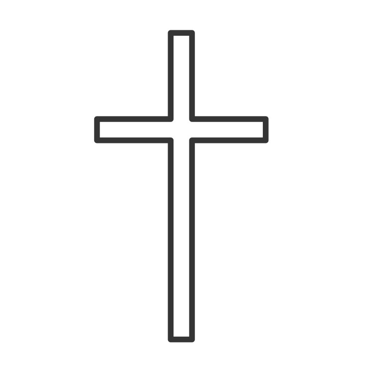 Simple Cross Line Art : Simple black cross clipartion