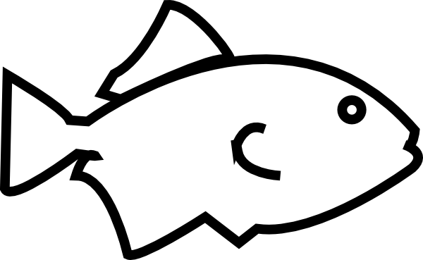 Simple Fish Outline Clip Art Free Clipart Images