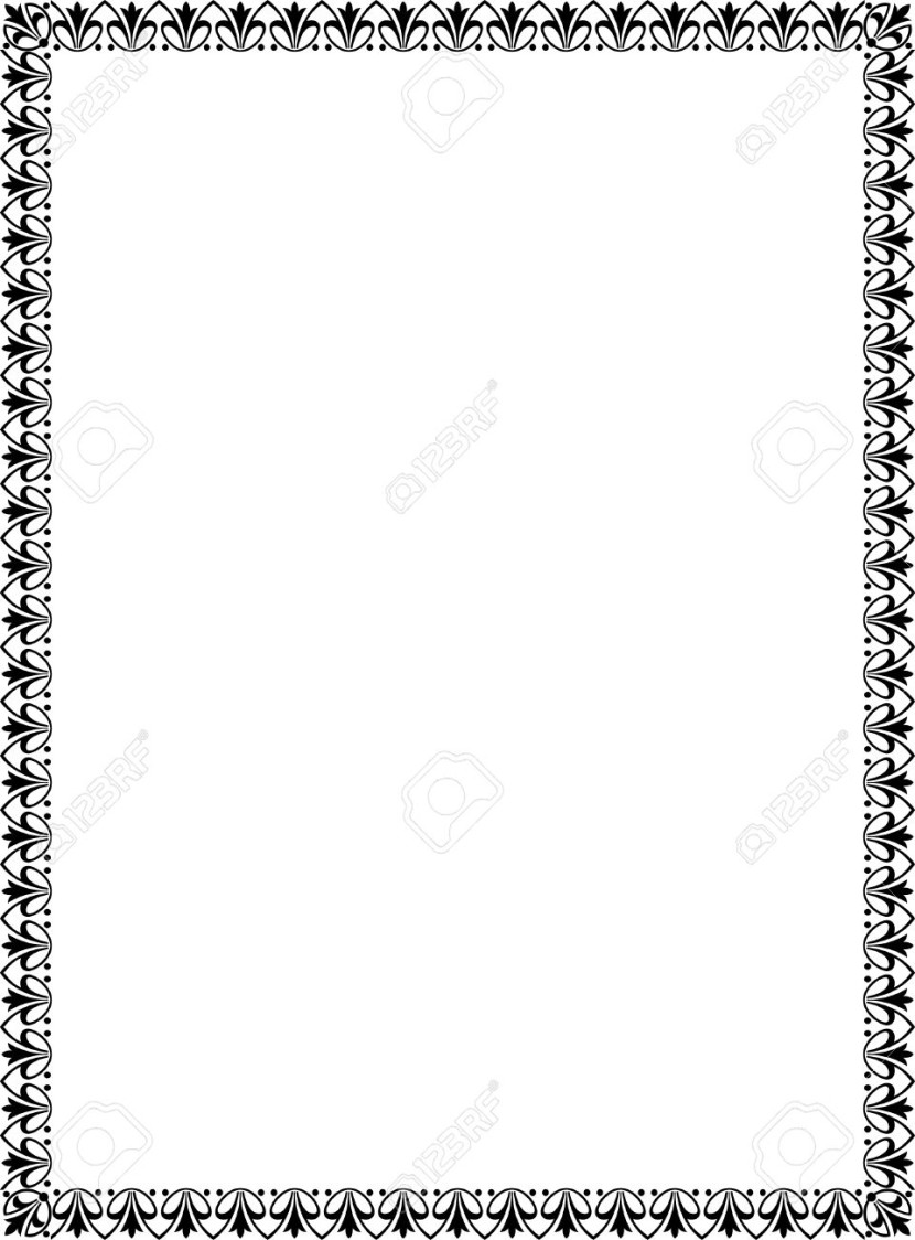 Simple Tiling Thin Frame Black And White Royalty Free Cliparts