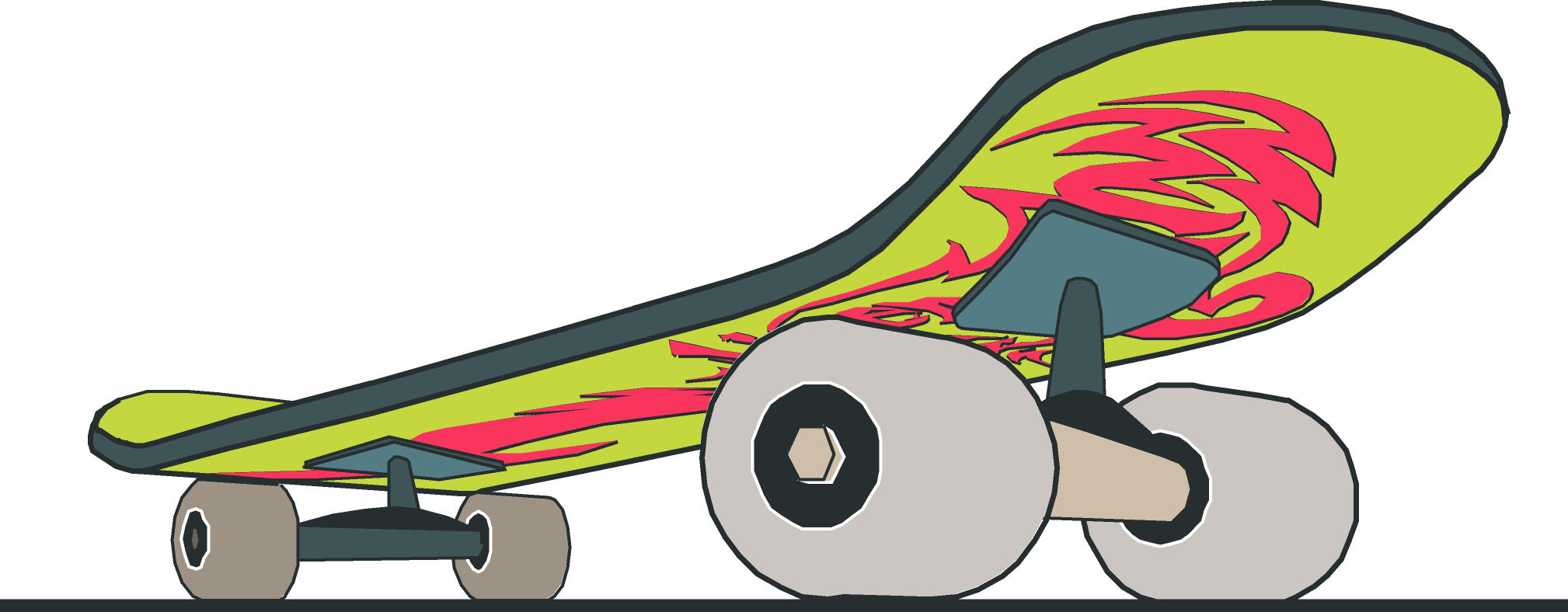 Skateboard Close Up With Design Free Vector 4vector