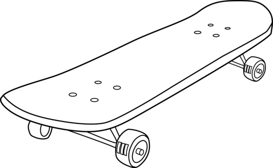 Skateboard Coloring Page Free Clipart Images