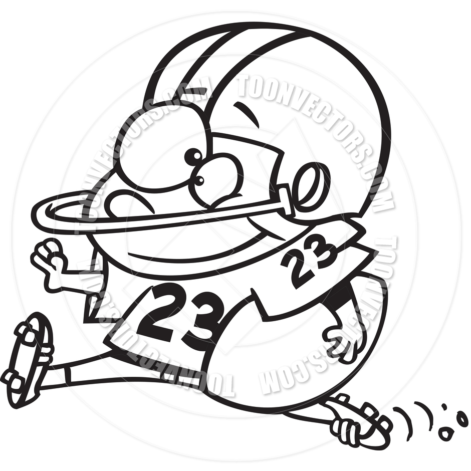 best football player clipart black and white 21031 clipartion com
