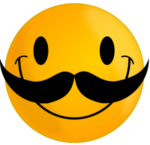 Smile With Mustache Vector File Vector Clip Art File