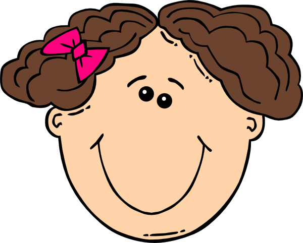 Smiling Short Brown Hair Girl Clip Art At Vector Clip