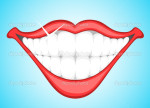 Smiling Teeth Clip Art Stock Vector Baavli 1