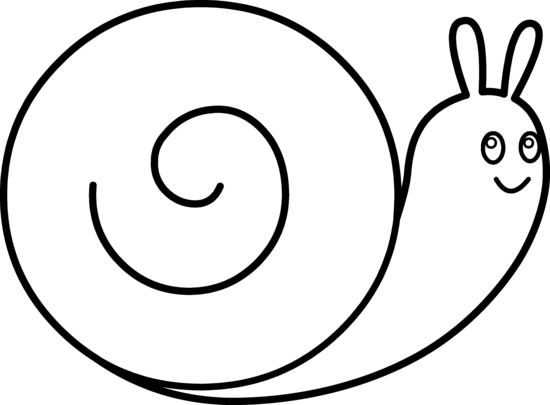 Snail Clipart Black And White Free Clipart