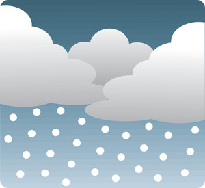 Snow Clipart Image Gray Clouds With Snow Falling