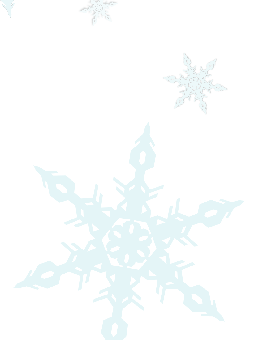 Snowflake Background Page Frames