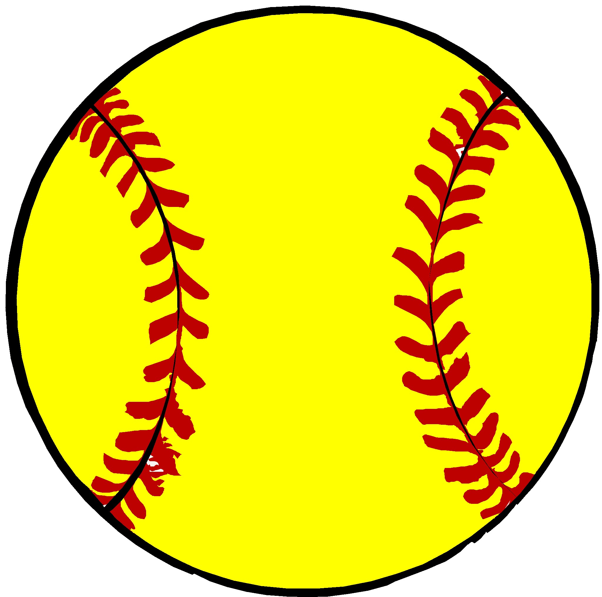 Image result for softball free clip art