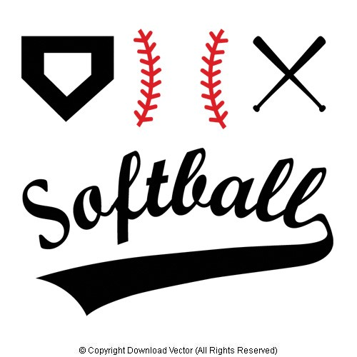 Softball Clip Art Product Tags Download Vector