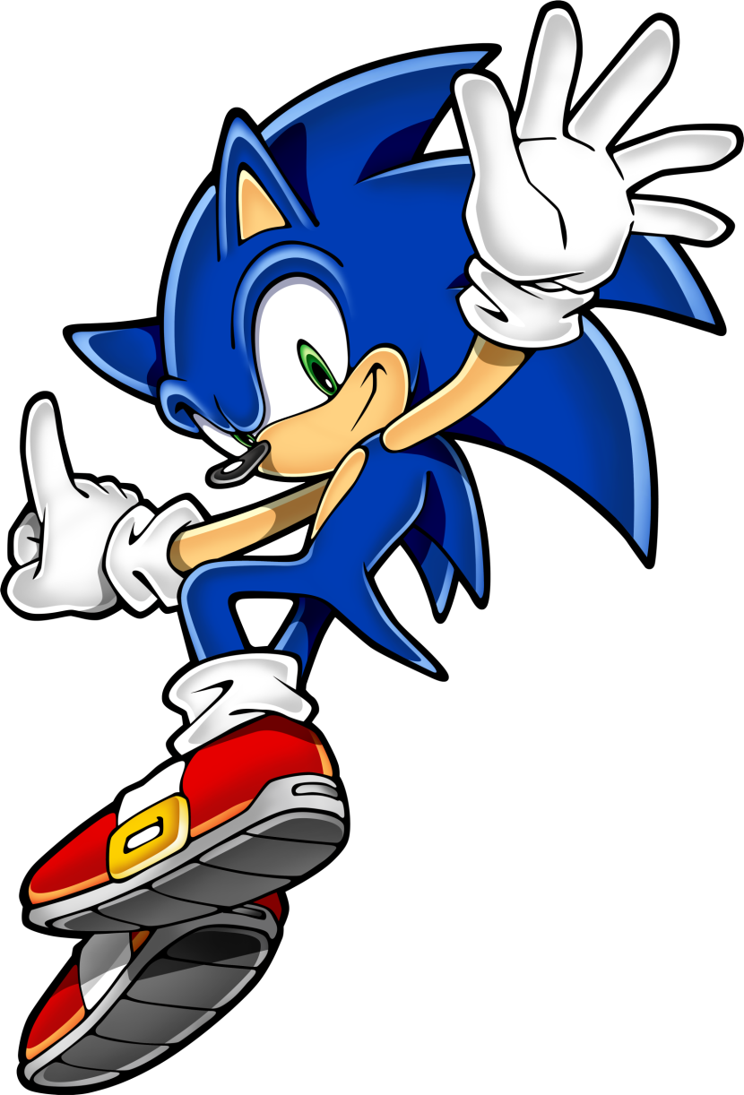 Sonic clip art for Free online drawing