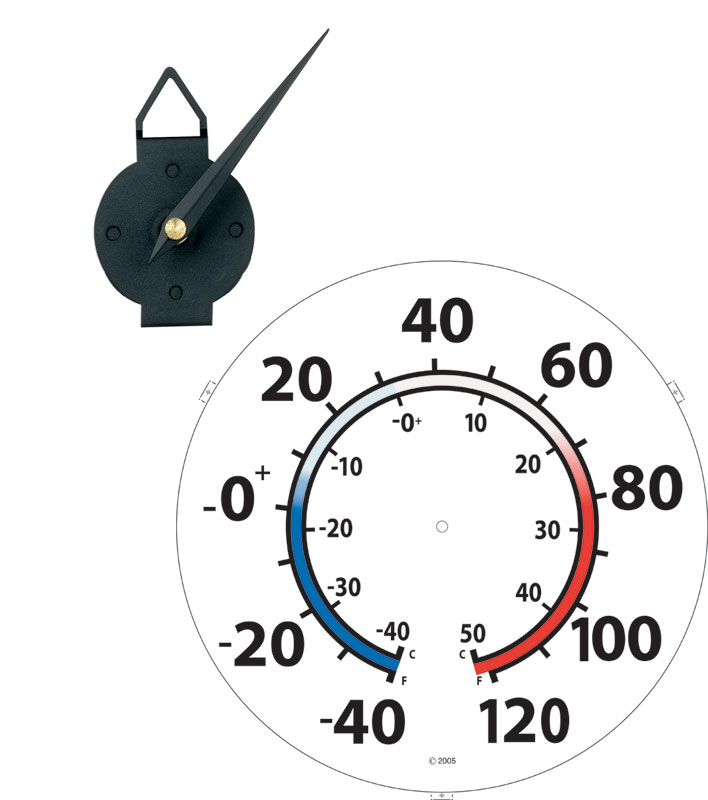 Speciality Clock Movements Quartex Thermometer Movement Klockit
