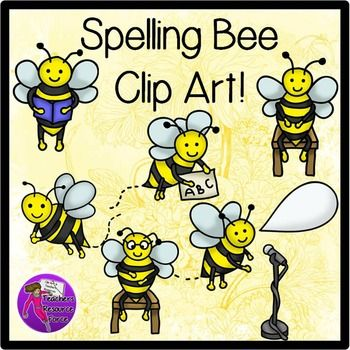 Spelling Bee Clip Art Color And Black Line Spelling Clip Art