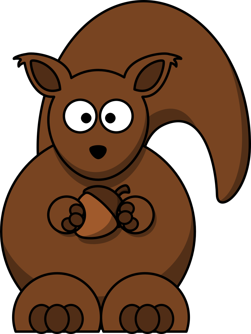 Squirrel Clipart Black And White Free Clipart Images
