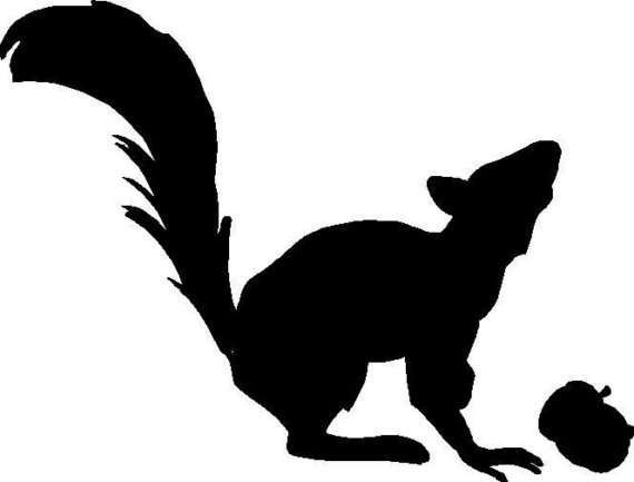 Squirrel Silhouette Free Clipart Images