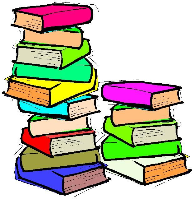 Stacks Of Books Clip Art