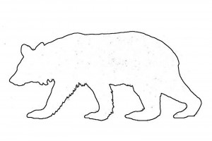 Standing Bear Outline Free Clipart Images