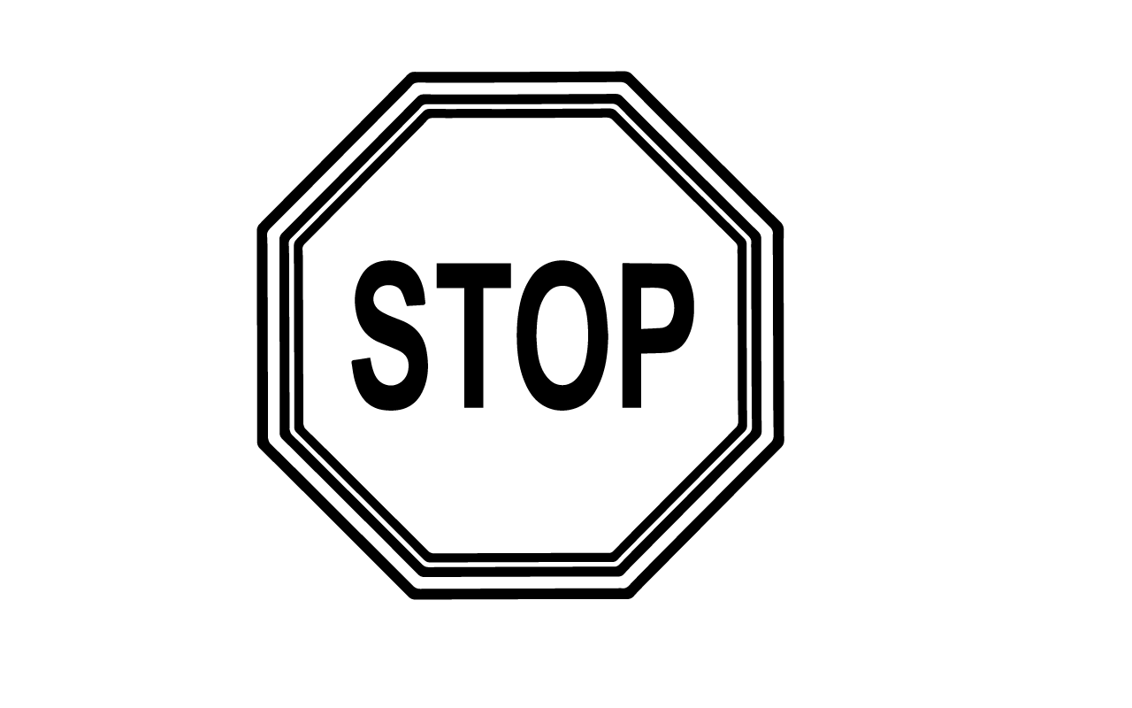Best Stop Sign Black And White #13926 - Clipartion.com for Stop Sign Clipart Black And White  186ref