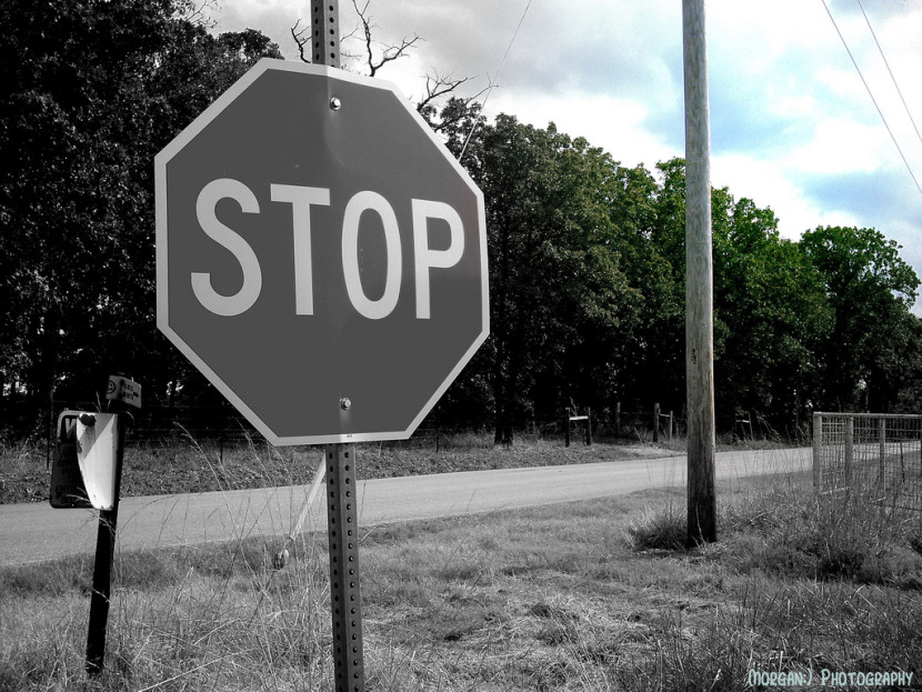 Stop Sign Black And White Flickr Photo Sharing