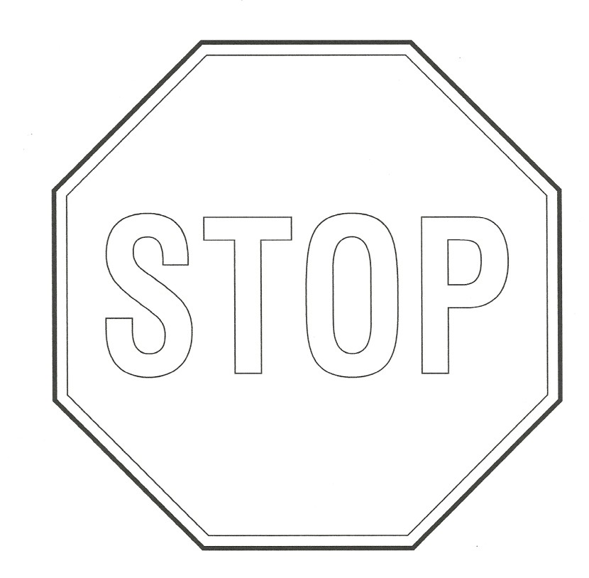 Best Stop Sign Black And White #13932 - Clipartion.com