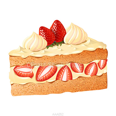 Strawberry Shortcake Clip Art Delicious Happy Birthday Cake Slice