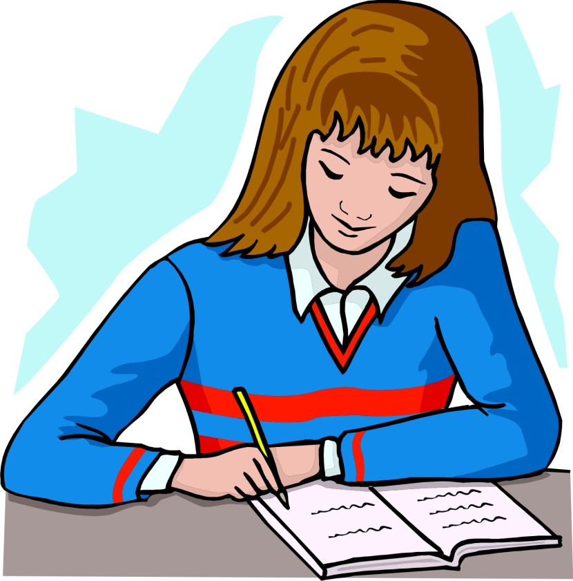 Student Doing Homework Clip Art 7