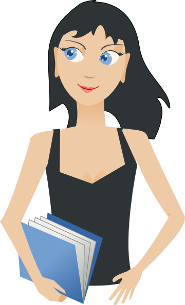 Student Girl With Book Clip Art At Vector Clip Art