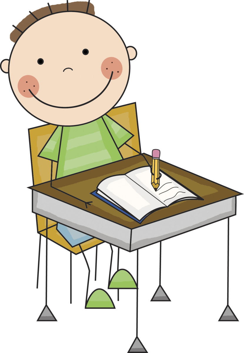 Student Working Clipart