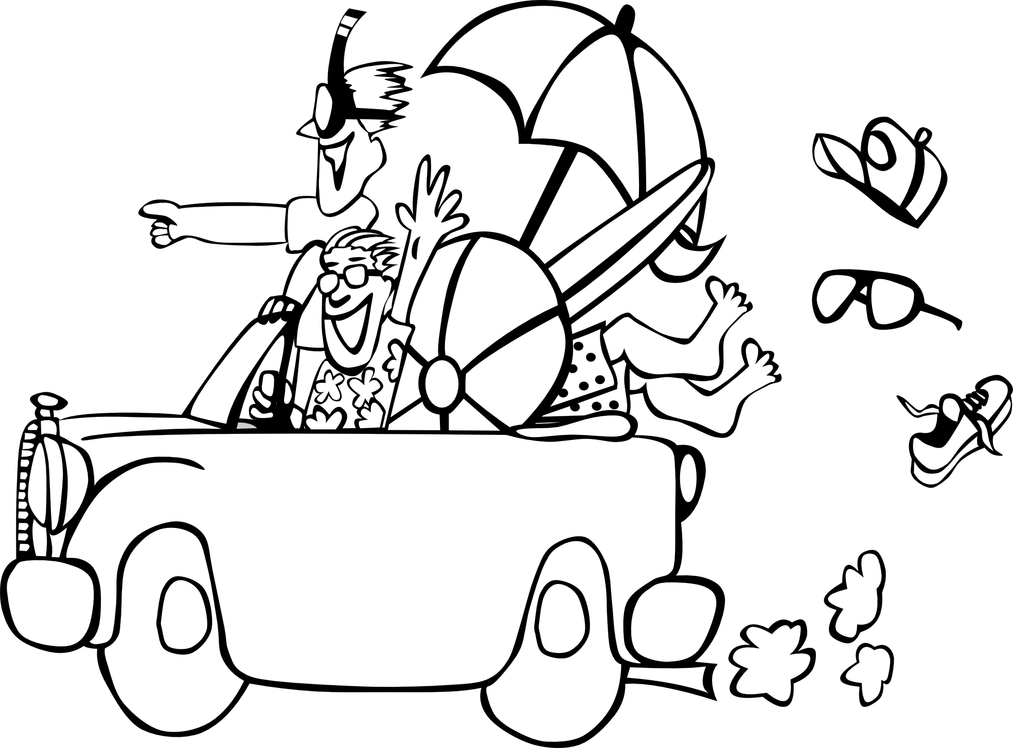Summer Clipart Black And White Free Clipart Images