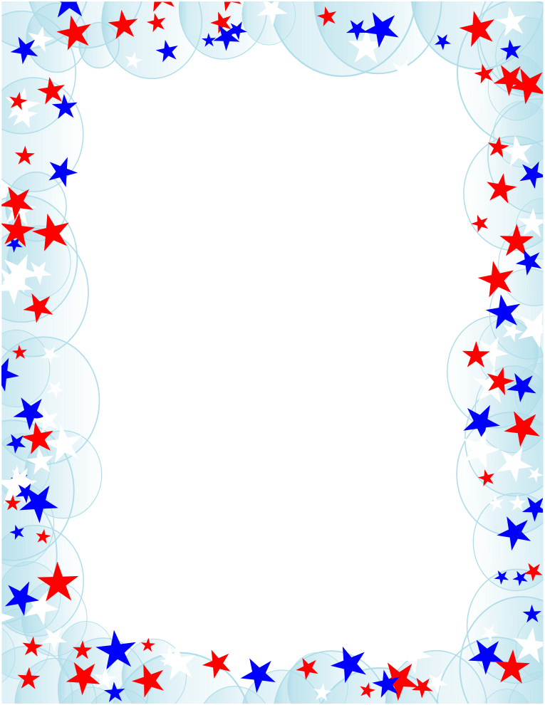 summer-page-border-clipart Memorial Day Borders