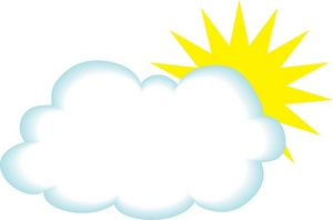 Sun And Clouds Clip Art Free Clipart Images