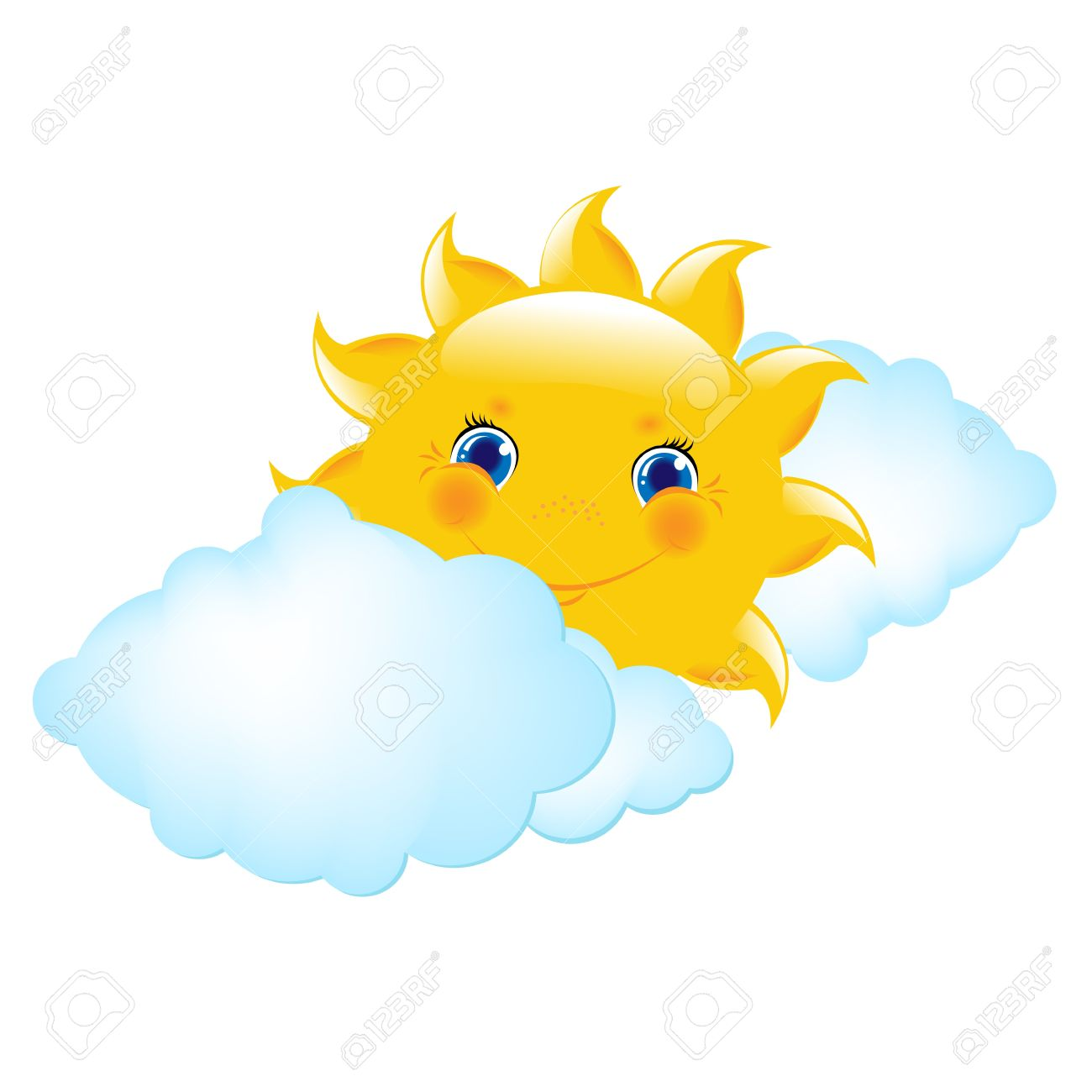 Best Sun And Clouds Clipart #19970 - Clipartion.com