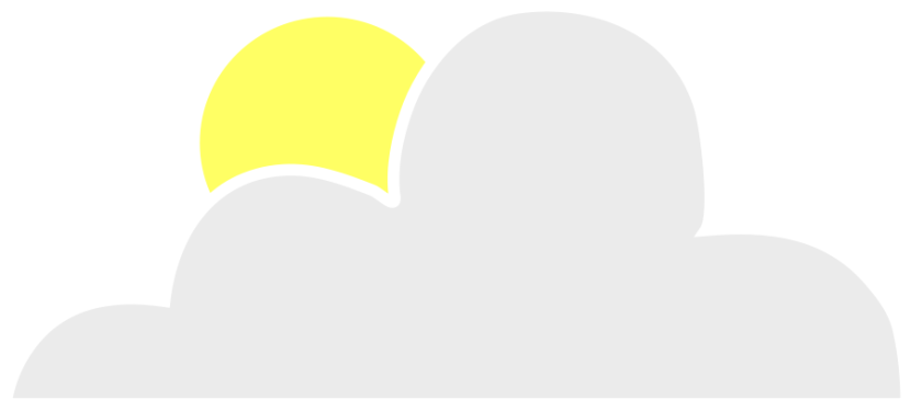 Sun Behind Cloud Clipart Vector Clip Art Online Royalty Free