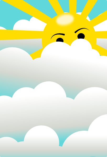 Sun With Clouds Clipart Free Clip Art Images