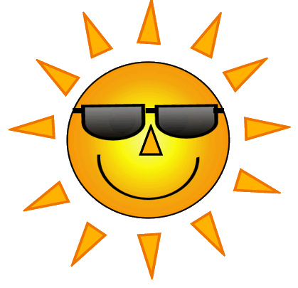 Sun With Sunglasses Clipart Free Clipart Images