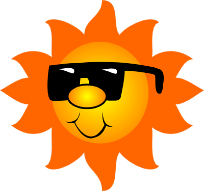 Sun With Sunglasses Clipart Transparent Free